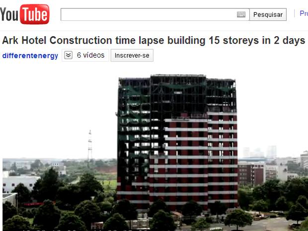Imagem feita durante o processo de construção.