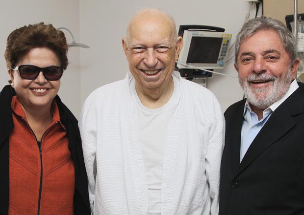 Presidente Lula e a presidente eleita, Dilma Rousseff, visitam o vice-presidente José Alencar, no Hospital Sírio-Libanês, em São Paulo