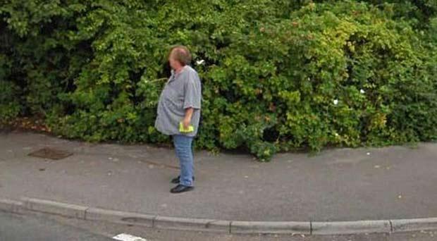 Bob Mewse perdeu quase 45 quilos após ser flagrado pelo Street View.