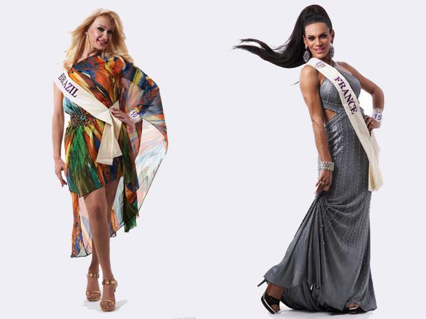 Michelly X, de São Paulo, representa o Brasil; Stella Rocha,  de Belém, será Miss França, onde vive