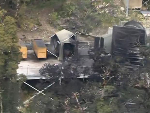 Imagem aérea mostra o local em que os mineiros estão presos.