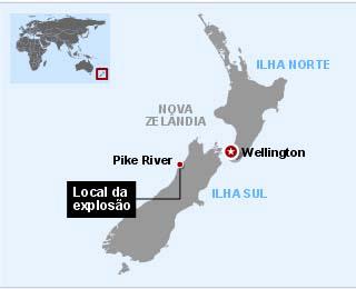 Mapa localiza o acidente.