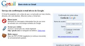 """Página falsa é idêntica à página de login do Google, embora o link de """"não consegue acessar a conta"""" esteja quebrado."""
