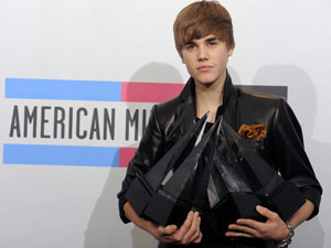 Justin Bieber é o destaque do American Music Awards
