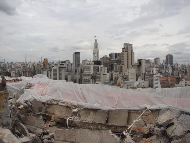 Vista do topo do edifício São Vito, no Centro de São Paulo
