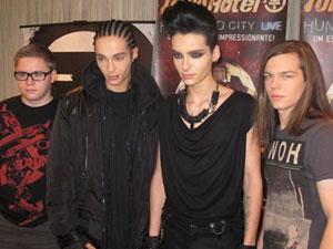 A banda Tokio Hotel em sua primeira vez no  Brasil