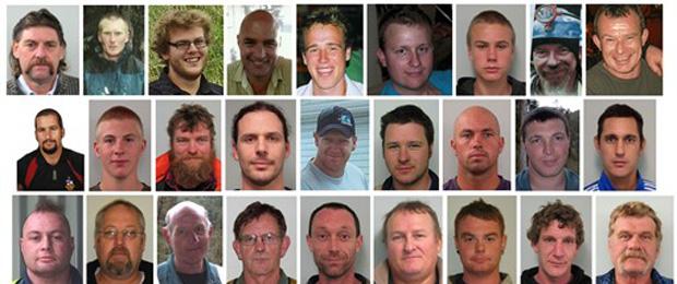 Fotos de 27 dos 29 mineiros mortos.