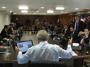 Presidente Lula  concedeu entrevista a blogueiros, no Palácio do Planalto, na manhã desta quarta-feira