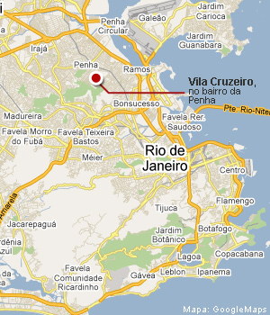 Mapa da Vila Cruzeiro