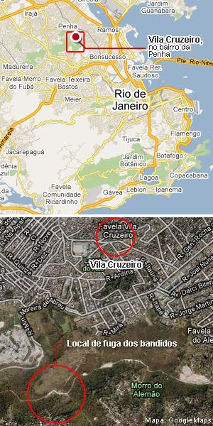 Mapa da Vila Cruzeiro - vale