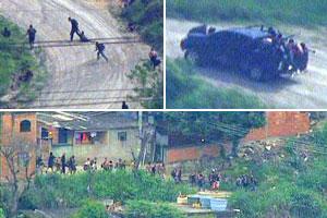 Operação provoca fuga em massa de criminosos para favela vizinha (Reprodução/TV Globo)