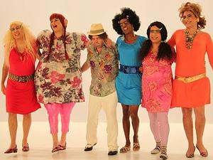 Os comediantes do grupo Casseta & Planeta, em programa de 2010