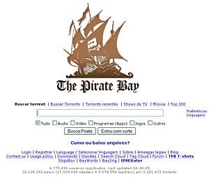 The Pirate Bay (Foto: Reprodução)