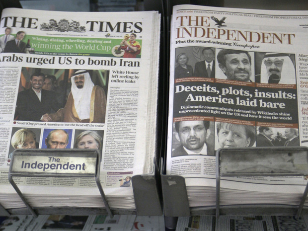 Jornais britânicos noticiam nesta segunda-feira (29) o vazamento de informações de dados do governo americano.