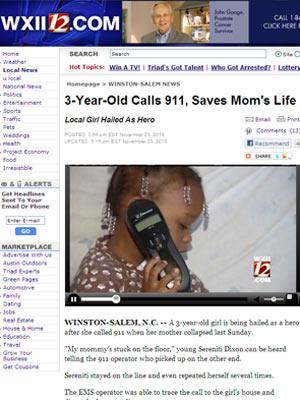 Menina ligou sozinha para a emergência