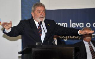 Lula na solenidade de entrega do Prêmio Nacional de Desenvolvimento Regional, em Brasília