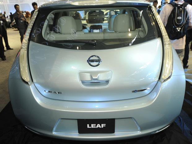 Nissan Leaf foi apresentado ao público brasileiro no Salão de São Paulo (Foto: Flavio Moraes/G1)