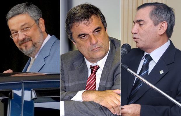 Da esq. para a dir., Antonio Palocci, José Eduardo Cardozo e Gilberto Carvalho