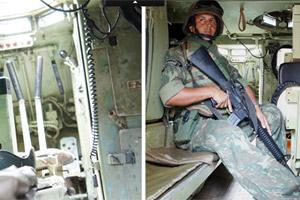 Veja como é o blindado da Marinha (Glauco Araújo/G1)