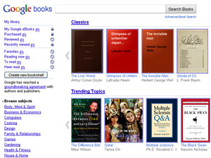 Google eBooks, livraria digital do Google
