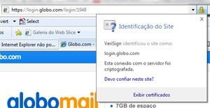 Cadeado de segurança autentica a página e criptografa o conteúdo para proteger senhas de interceptação.