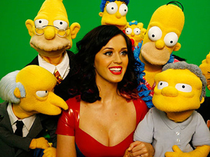 Katy Perry com os Simpsons