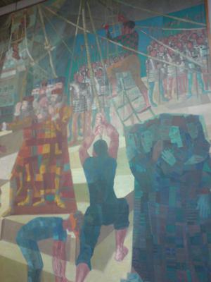 Obra de Portinari decora a sala do Copom