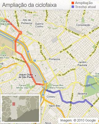 ciclofaixa mapa amplia