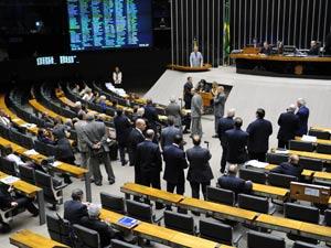 Plenário da Câmara nesta quarta-feira (8)