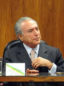 O vice-presidente eleito, Michel Temer