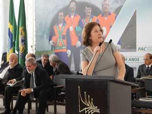 A coordenadora do PAC, Miriam Belchior, fez um balanço do programa nesta quinta-feira (9)