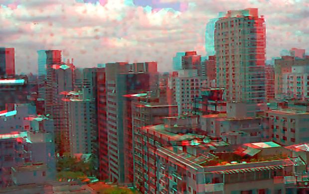 Foto em 3D tirada com a Aiptek i2.