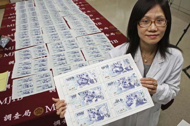 Empresário procurou Liu Hui-fen, que ajudou a remendar as cédulas.