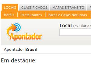 Website de geolocalização.