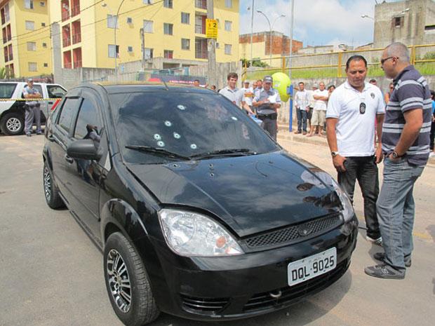 Carro do prefeito Braz Paschoalin