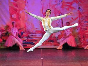 Jovani, de 17 anos, durante apresentação da escola do Bolshoi no Brasil realizada nesta semana