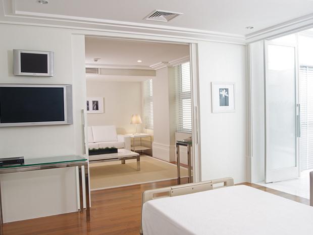Suíte com sala de estar na Pró-Matre Paulistana