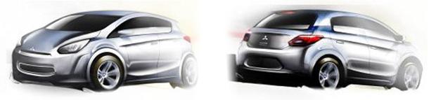 Mitsubishi mostra esboço de compacto que será fabricado na Tailândia