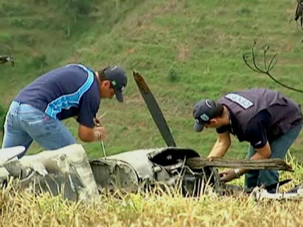 Segundo PM, equipe do Cenipa levou o motor esquerdo da aeronave para análise