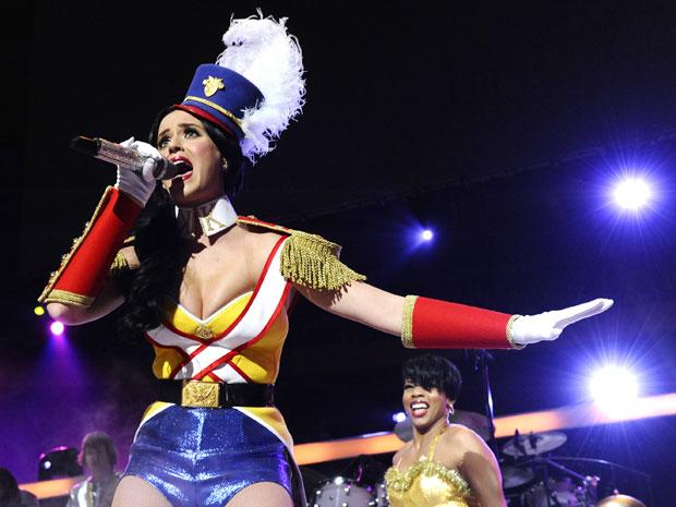 Katy Perry também se apresentou no evento, realizado no Madison Square Garden