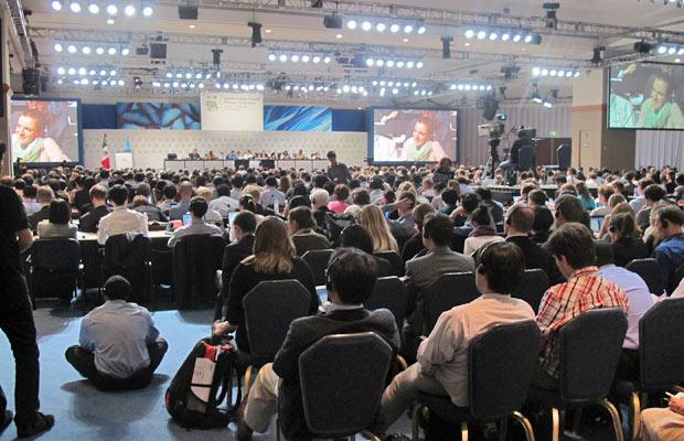 Reunião final da COP 16 (Foto: Dennis Barbosa/G1)