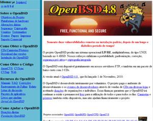 Foco do OpenBSD é a segurança do sistema.