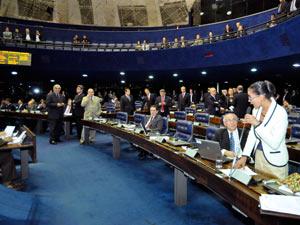 Sessão do Senado em que foi aprovado o aumento para parlamentares