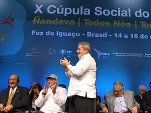 O presidente Lula no encerramento da Cúpula do Mercosul nesta quinta