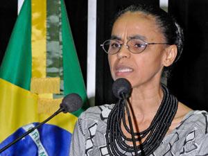 Marina Silva em discurso de despedida do Senado (Foto: Agência Senado)