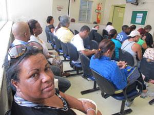Dorcas dos Santos aguarda atendimento no Hospital do Servidor Público Municipal, em São Paulo