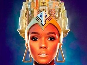 Detalhe da capa do disco da cantora americana Janelle Monae