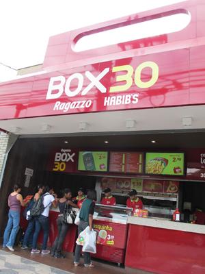 Fachada da loja Box 30