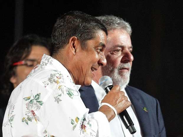 Zeca Pagodinho e o presidente Luiz Inácio Lula da Silva.