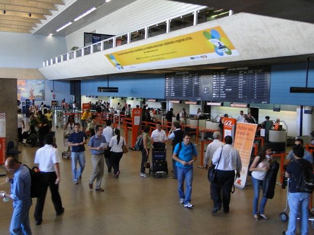 Aeroporto Internacional Tancredo Neves, na Grande BH, na tarde desta quarta-feira (22).